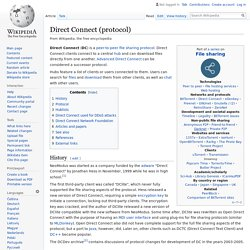 Direct Connect (protocol) - Wikipedia