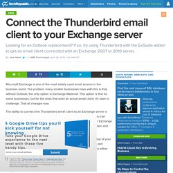 Connect the Thunderbird email client to your Exchange server