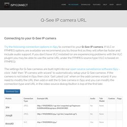 Connect to Q-See IP cameras