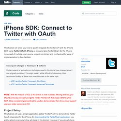 iPhone SDK: Connect to Twitter with OAuth