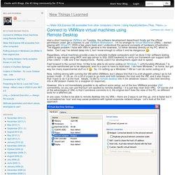 Connect to VMWare virtual machines using Remote Desktop
