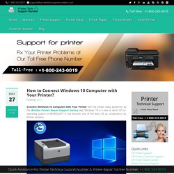 How to Connect Windows 10 Computer with Your Printer?