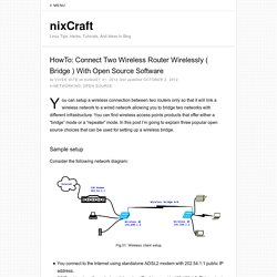 HowTo: Connect Two Wireless Router Wirelessly ( Bridge )