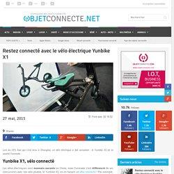 Restez connecté avec le vélo électrique, Yunbike X1