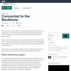 Connected to the Backbone - Tuts+ Code Tutorial