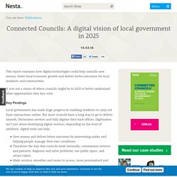 Connected Councils: A digital vision of local government in 2025