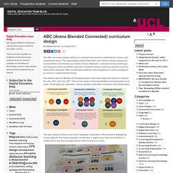 ABC (Arena Blended Connected) curriculum design