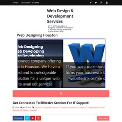 Get Connected To Effective Services For IT Support! ~ Web Design & Development Services