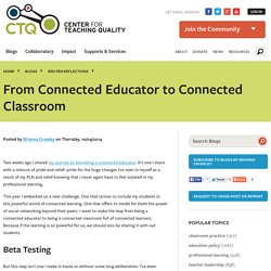From Connected Educator to Connected Classroom