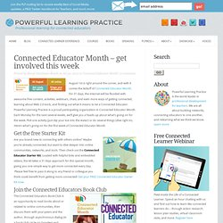 Connected Educator Month - get involved