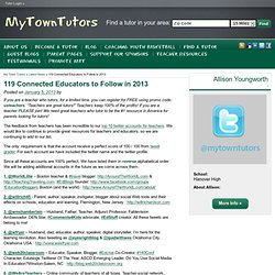 119 Connected Educators to Follow in 2013