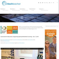 Connected Educators Month - EdTechTeacher