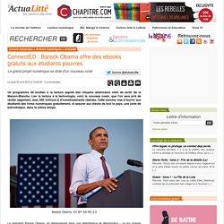 ConnectED : Barack Obama offre des ebooks gratuits aux étudiants pauvres