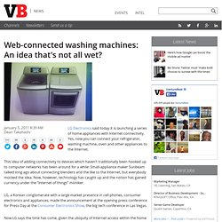 Web-connected washing machines: An idea that's not all wet?