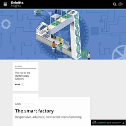 Industry 4.0, smart factory, and connected manufacturing