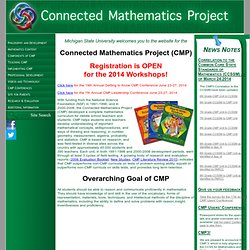 connected mathematics project Geometry for middle school teachers companion problems for the connected mathematics curriculum carl w lee and jakayla robbins department of mathematics investigations in the nsf-funded middle school connected mathematics projectthen.