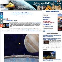 Vast Liquid Ocean Beneath Europa Is Connected With The Moon's Frozen Surface