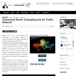Martin Grandjean » Digital humanities, Data visualization, Network analysis » Connected World: Untangling the Air Traffic Network