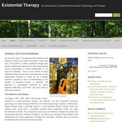 Isolation and Connectedness – Existential Therapy