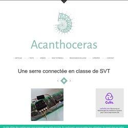 Une serre connectée en classe de SVT - Acanthoceras