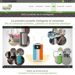 R3D3 poubelle connectée de tri sélectif - GreenCREATIVE