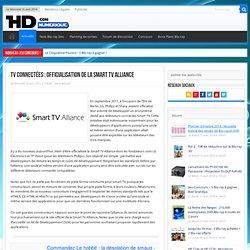 TV connectées : Officialisation de la Smart TV Alliance