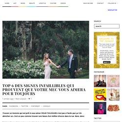 Girls & Roses » Le site N°1 des filles connectéesTop 6 des signes infaillibles qui prouvent que votre mec vous aimera pour toujours - Girls & Roses