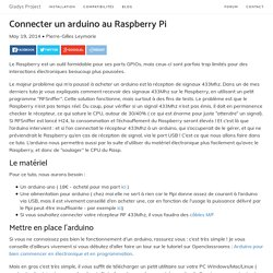 Connecter un arduino au Raspberry Pi