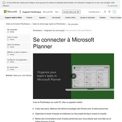 Se connecter à Microsoft Planner - Support Office