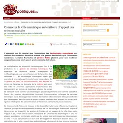 Connecter la ville numérique au territoire : l'apport des sciences sociales