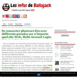 Se connecter plusieurs fois avec différents pseudos sur n'importe quel site Web, Multi Account Login