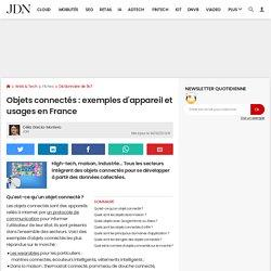 Objets connectés: exemples d'appareil et usages en France