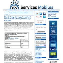Bilan de l'usage des supports mobiles et connectés dans les cinq principaux pays européens