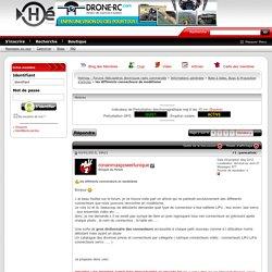 les différents connecteurs de modélisme - Helimag - Forums Hélicoptères électriques radio commandés