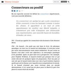Le peuple des connecteurs - Thierry Crouzet
