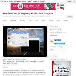 Connectez vous de n'importe où à votre Raspberry Pi avec VNC CONNECT - Framboise 314, le Raspberry Pi à la sauce française....