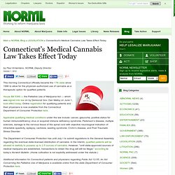 Connecticut's Medical Cannabis Law Takes Effect Today