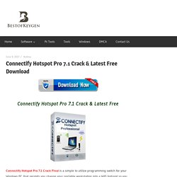 Connectify Hotspot Pro 7.1 Crack & Latest Free Download