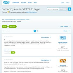 Connecting Asterisk SIP PBX to Skype