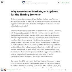Why we released Markets, an AppStore for the Sharing Economy — Ouishare — Connecting the Collaborative Economy