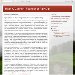 Ryan O'Connor - Founder of RipNDip: Ryan O'Connor – Connecting with Customers Through Branding