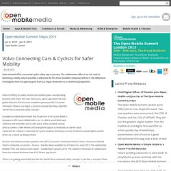 Volvo Connecting Cars & Cyclists for Safer Mobility