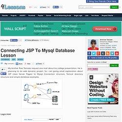 Connecting JSP To Mysql Database Lesson