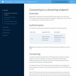 Connecting to a streaming endpoint
