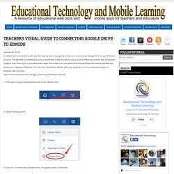 Educational Technology and Mobile Learning: Teachers Visual Guide to Connecting Google Drive to Edmodo
