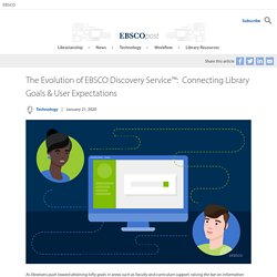 The Evolution of EBSCO Discovery Service™: Connecting Library Goals & User Expectations