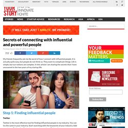 Secrets of connecting with influential and powerful people