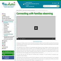 Connecting with families elearning