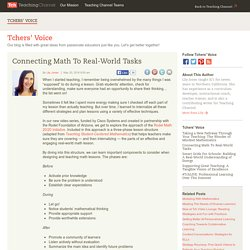 Connecting Math to Real-World Tasks