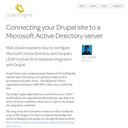 Connecting your Drupal site to a Microsoft Active Directory server